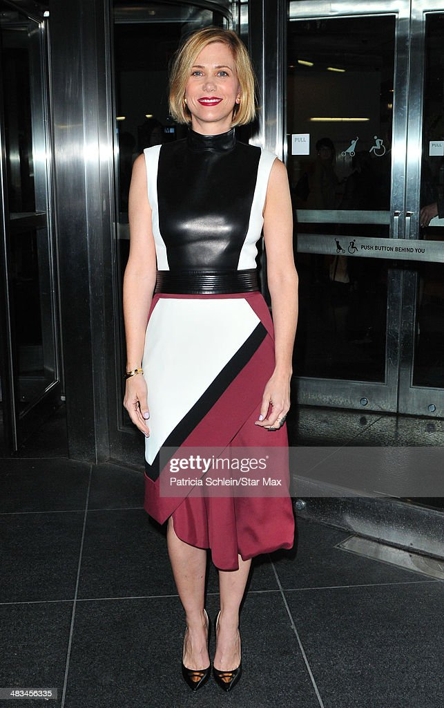Kristen Wiig is seen on April 8, 2014 in New York City.