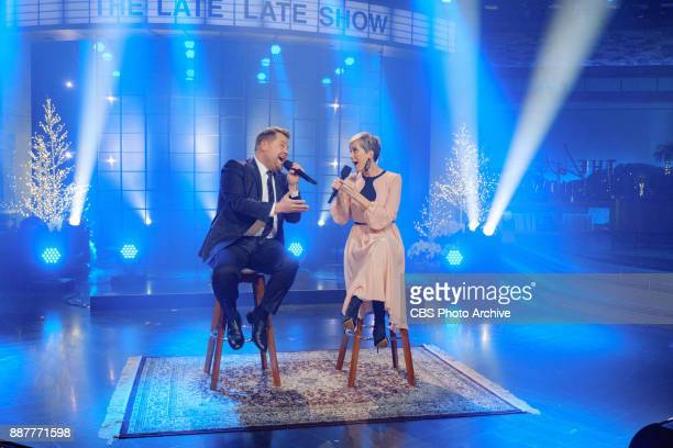 Kristen Wiig performs in a sketch with James Corden during 'The Late Late Show with James Corden' Wednesday December 6 2017 On The CBS Television...