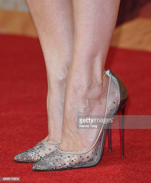 Kristen Wiig shoe detail attends the European premiere of 'The Martian' at Odeon Leicester Square on September 24 2015 in London England