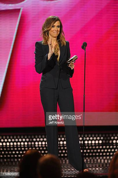 Kristen Wiig speaks onstage at the First Annual Comedy Awards at Hammerstein Ballroom on March 26, 2011 in New York City.