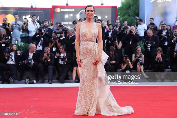 Kristen Wiig walks the red carpet ahead of the 'Downsizing' screening and Opening Ceremony during the 74th Venice Film Festival at Sala Grande on...
