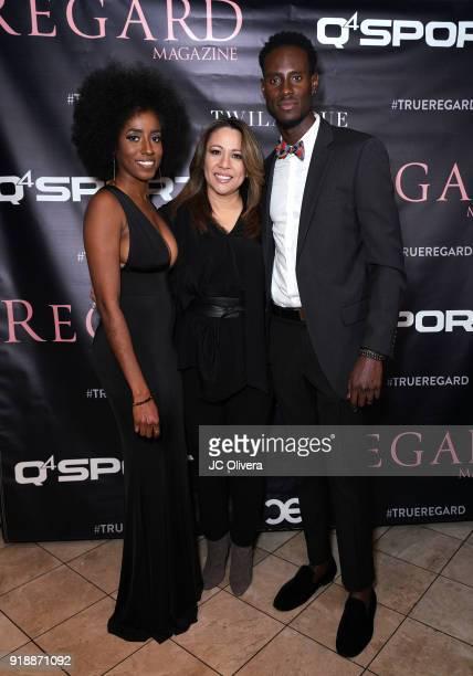 Kristen Williams Twila True and Quintin Williams attend Regard Magazine 2018 NBA AllStar PreParty hosted by Derek Fisher at Soho House on February 15...