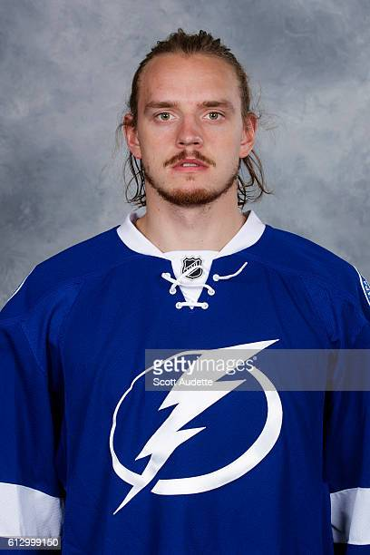 Kristers Gudlevskis of the Tampa Bay Lightning poses for his official headshot for the 20162017 season on September 22 2016 at Amalie Arena in Tampa...