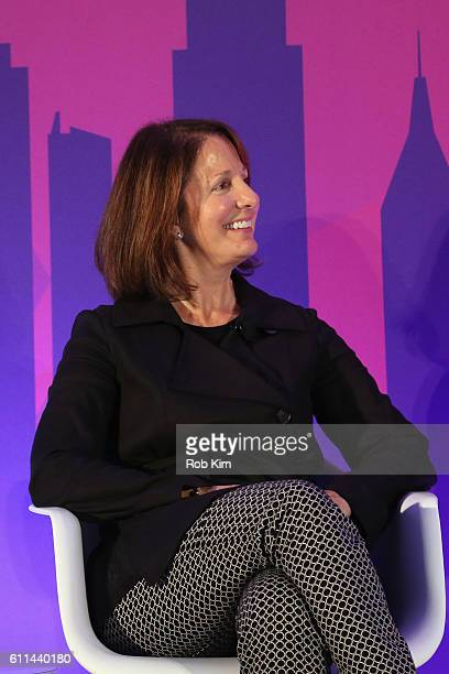 Kristi Argyilan speaks onstage at the Technology v Strategy Who's Steering the Future of Media panel on the ADARA Stage at Times Center Hall during...