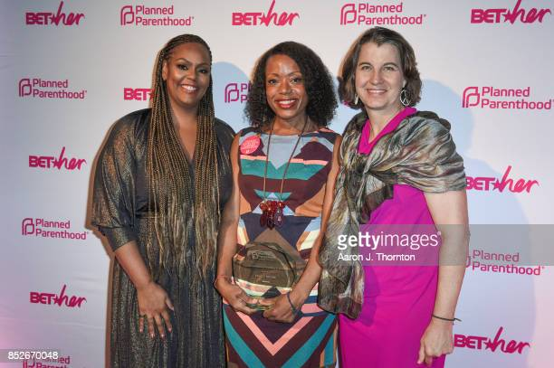 Kristi Henderson Tracy Reese and Dawn Laguens pose at the 6th Annual Planned Parenthood Champions of Women's Health Brunch at The Hamilton on...