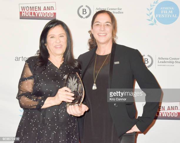 Kristi Jacobson and Barbara Kopple attend the 2018 Athena Film Festival Awards Ceremony at The Diana Center At Barnard College on February 23 2018 in...
