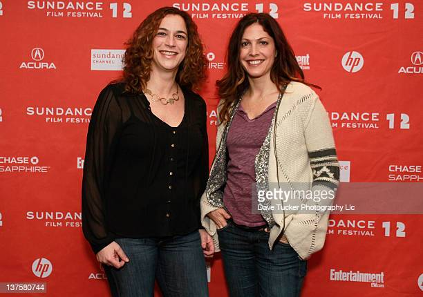 Kristi Jacobson and Lori Silverbush attend the Finding North premiere during the 2012 Sundance Film Festival held at Temple Theater on January 22...
