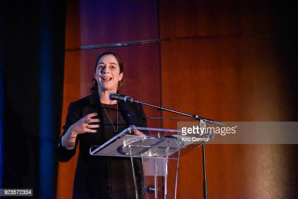 Kristi Jacobson attends the 2018 Athena Film Festival Awards Ceremony at The Diana Center At Barnard College on February 23 2018 in New York City