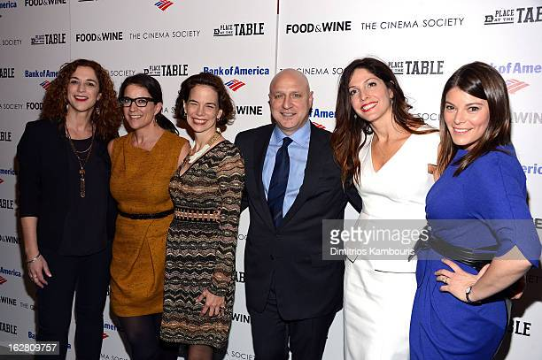 Kristi Jacobson Christina Grdovic Dana Cowin Tom Colicchio Lori Silverbush and Gail Simmons attend the Bank of America and Food Wine with The Cinema...