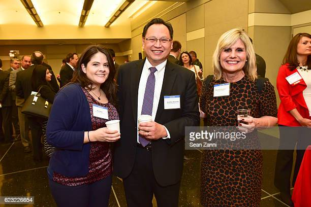 Kristi Miro Jonathan Hernandez and Stephanie Rudman attend Commercial Observer Pulse Healthcare Conference at CUNY Graduate Center on November 10...
