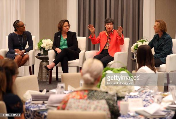 Kristi Nelson moderates a panel with Jennifer Bartkowski CEO Girl Scouts of North Texas Lyda Hill Chairman of LH Capital and Founder of Lyda Hill...