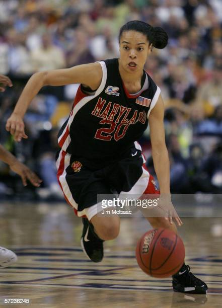 Kristi Toliver of the Maryland Terrapins handles the ball during their game against the North Carolina Tar Heels during the 2006 Women's NCAA...