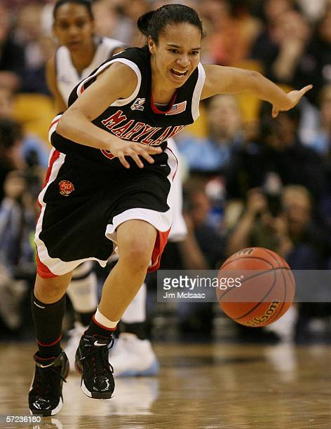 Kristi Toliver of the Maryland Terrapins runs after a loose ball during their game against the North Carolina Tar Heels during the 2006 Women's NCAA...