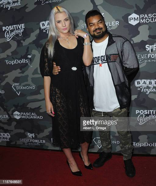 Kristi Tucker and Adrian Dev attends the 4th Annual Babes In Toyland Support Our Troops Charity Event held at Academy LA on July 24 2019 in Los...