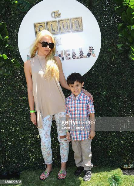 Kristi Tucker and Brodie Chaudhury arrive for Clubhouse Kidchella held at Pershing Square on April 6 2019 in Los Angeles California