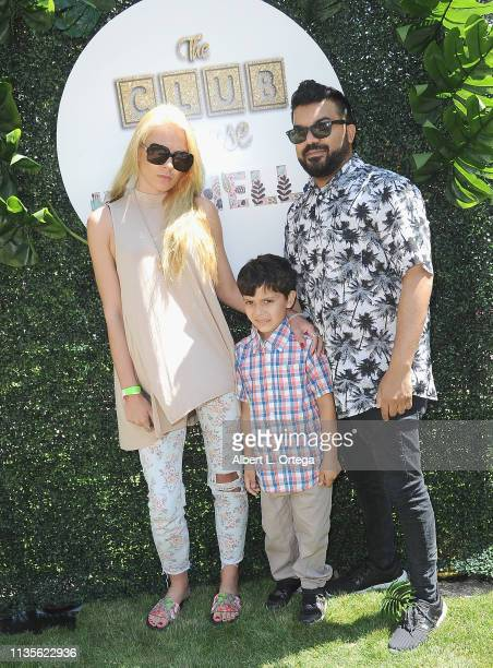 Kristi Tucker son Brodie Chaudhury and Adrian Dev arrive for Clubhouse Kidchella held at Pershing Square on April 6 2019 in Los Angeles California