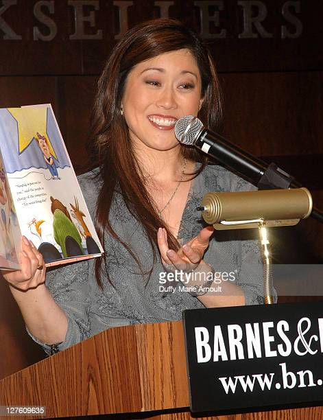 """Kristi Yamaguchi signs copies of her children's book """"Dream Big, Little Pig!"""" at Barnes & Noble bookstore at The Grove on March 21, 2011 in Los..."""