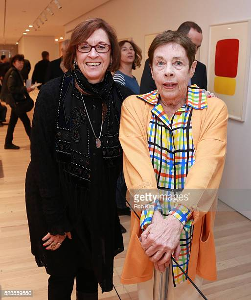 Kristi Zea and artist Jennifer Bartlett attend the premiere of Everybody Knows Elizabeth Murray during the 2016 Tribeca Film Festival at Whitney...