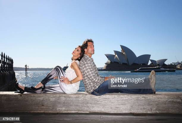 Kristian Alfonso and Shawn Christian pose outside the Park Hyatt Hotel during a Days Of Our Lives Stars photo call at the Park Hyatt on March 19 2014...