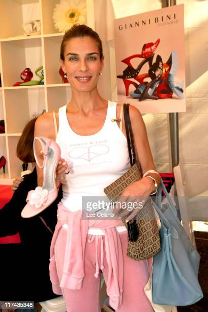 Kristian Alfonso at Gianni Bini during Silver Spoon Hollywood Buffet Day One at Private Estate in Hollywood California United States Photo by Lee...