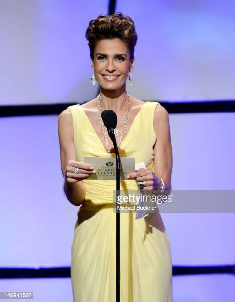 Kristian Alfonso speaks onstage during The 39th Annual Daytime Emmy Awards broadcasted on HLN held at The Beverly Hilton Hotel on June 23 2012 in...