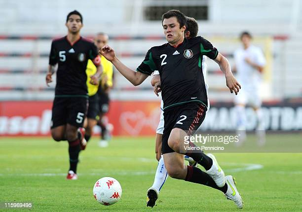 Kristian Alvarez of Mexico in action during the Toulon U21 tournament match between Italy and Mexico at Felix Mayol Stadium on June 10 2011 in Toulon...