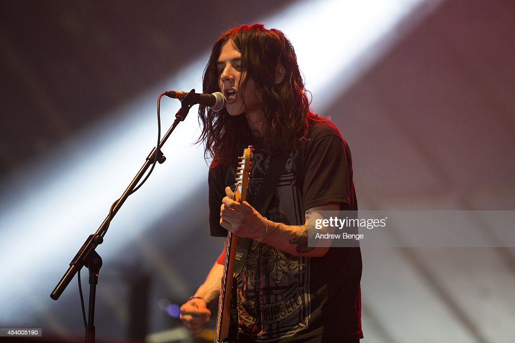 Kristian Bell of The Wytches performs on stage at Leeds Festival at Bramham Park on August 22, 2014 in Leeds, United Kingdom.