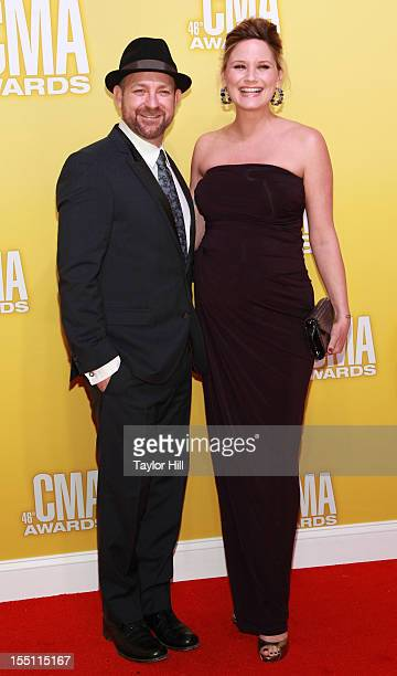 Kristian Bush and Jennifer Nettles of Sugarland attend the 46th annual CMA Awards at the Bridgestone Arena on November 1 2012 in Nashville Tennessee