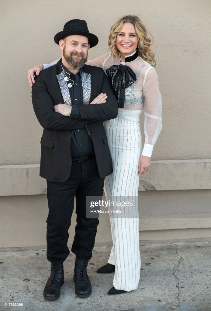 Kristian Bush and Jennifer Nettles of the country duo 'Sugarland' are seen at 'Jimmy Kimmel Live' on April 16, 2018 in Los Angeles, California.