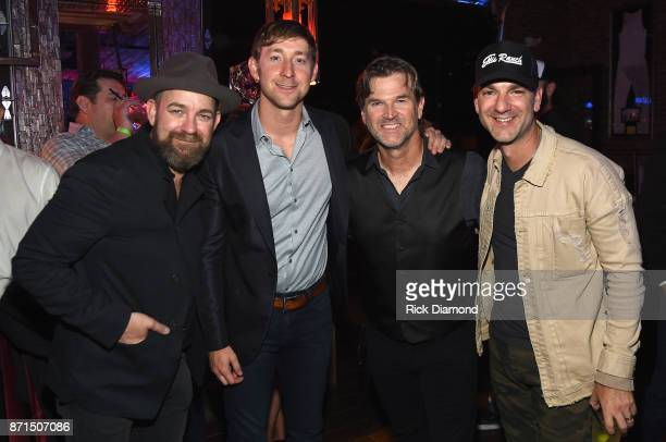 Kristian Bush Ashley Gorley Chris King and Craig Campbell attend the Folds Of Honor CMS Nashville Songwriter of the Year Party 2017 at FGL House on...