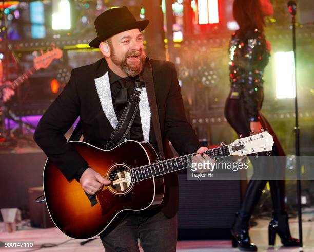 Kristian Bush performs during Dick Clark's New Year's Rockin' Eve at Times Square on December 31 2017 in New York City