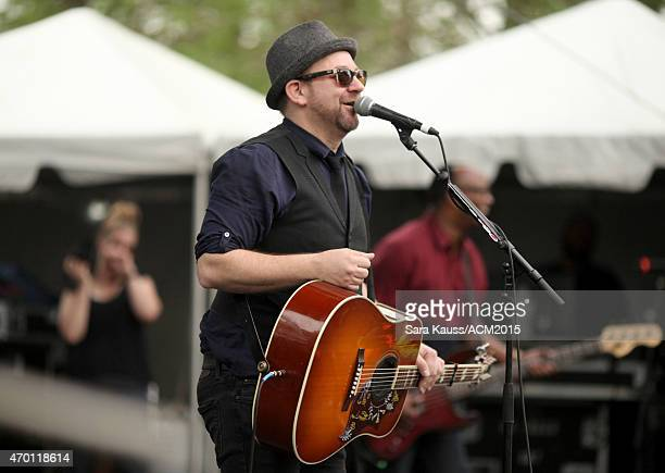 Kristian Bush performs onstage during the ACM Party For A Cause Festival at Globe Life Park in Arlington on April 17 2015 in Arlington Texas