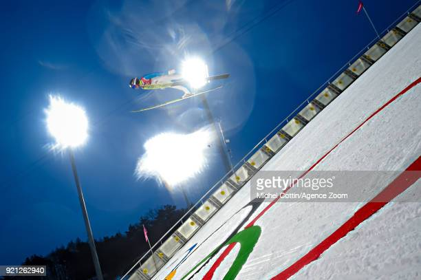 Kristian Ilves competes during the Nordic Combined Large Hill/10km at Alpensia CrossCountry Centre on February 20 2018 in Pyeongchanggun South Korea