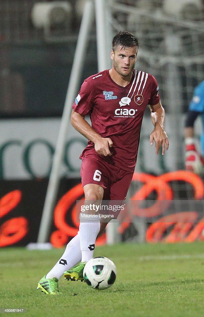 Kristian Ipsa of Reggina during the Serie B match between Reggina Calcio and US Citta di Palermo at Stadio Oreste Granillo on November 16, 2013 in Reggio Calabria, Italy.