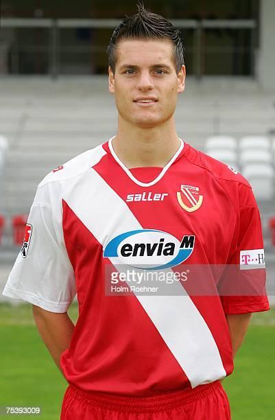 Kristian Ipsa poses during the Bundesliga 2nd Team Presentation of FC Energie Cottbus on July 13 2007 in Jena Germany