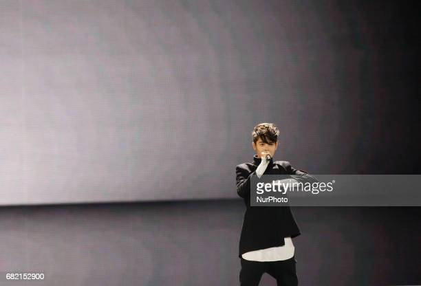 Kristian Kostov from Bulgaria performs with the song quotBeautiful Messquot during the Second SemiFinal of the Eurovision Song Contest in Kiev...