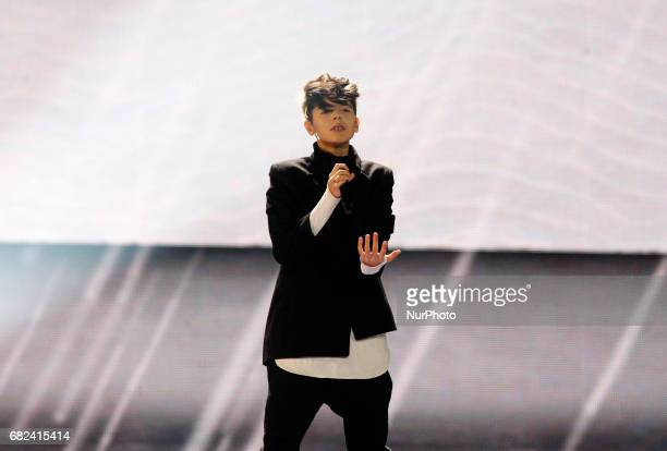 Kristian Kostov from Bulgaria performs with the song quotBeautiful Messquotduring the rehearsal for the Grand Final of the Eurovision Song Contest in...