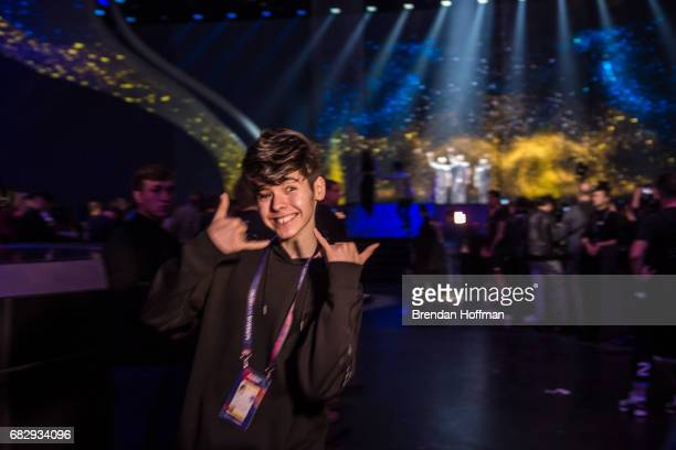 Kristian Kostov the contestant from Bulgaria during a rehearsal for the Eurovision Grand Final on May 12 2017 in Kiev Ukraine Ukraine is the 62nd...
