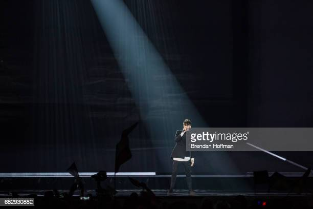 Kristian Kostov the contestant from Bulgaria performs at the Eurovision Grand Final on May 14 2017 in Kiev Ukraine Ukraine is the 62nd host of the...