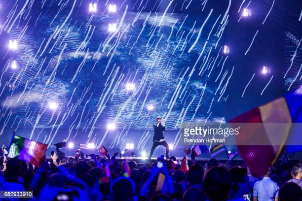 Kristian Kostov the contestant from Bulgaria performs during the second Eurovision semifinal on May 11 2017 in Kiev Ukraine Ukraine is the 62nd host...