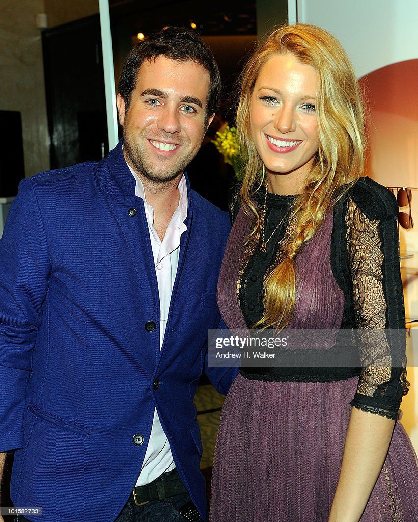 Kristian Laliberte and actress Blake Lively attend the Spring 2011 Eyewear collection at Tiffany & Co. on September 30, 2010 in New York, City.