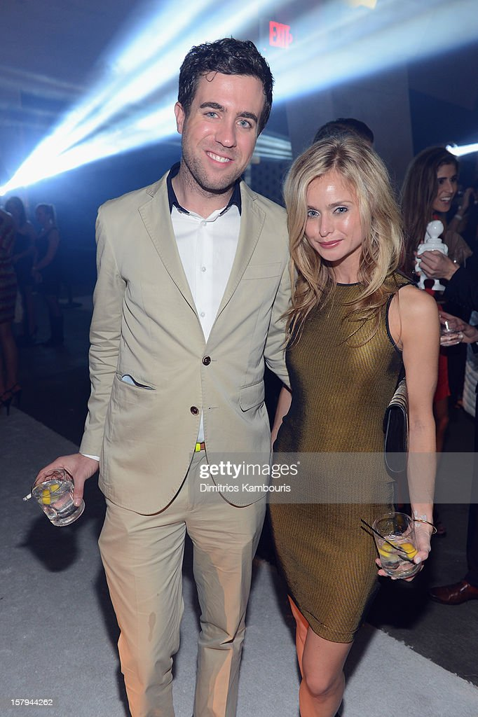 Kristian Laliberte and Natalie Obradovich attend a party as Moncler Celebrates Its 60th Anniversary At Art Basel Miami Beach on December 7, 2012 in Miami Beach, Florida.