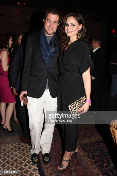 Kristian Laliberte and Ranya Husami attend House of Lavande Hosts the Nest Foundation Gala at Bowery Hotel on May 1 2009 in New York City