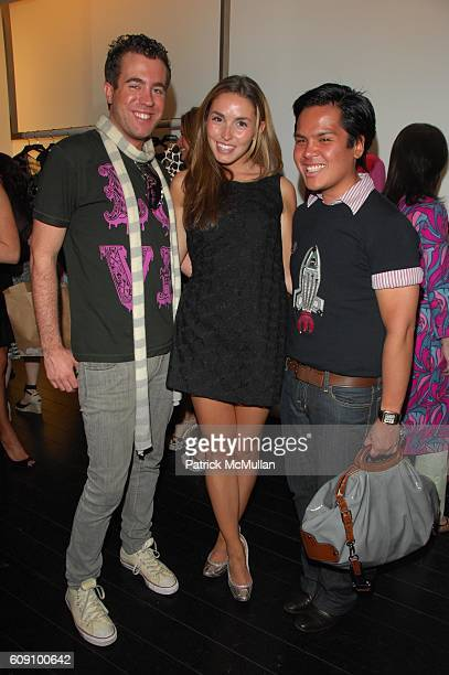 Kristian Laliberte Anya Assante and PJ Pascual attend ALESSANDRO DELL'ACQUA HELENA CHRISTENSEN and FABIOLA BERACASA hosts cocktails at ALESSANDRO...