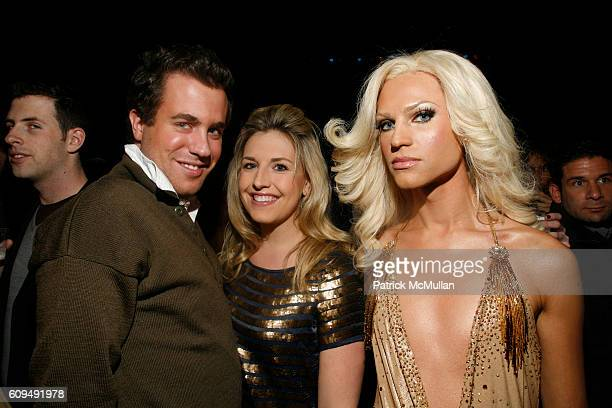 Kristian Laliberte Poppy Harlow and Phillip Blond attend MAO MAG Fashion Week Launch Party at The Broad Street Ballroom on January 31 2007 in New...
