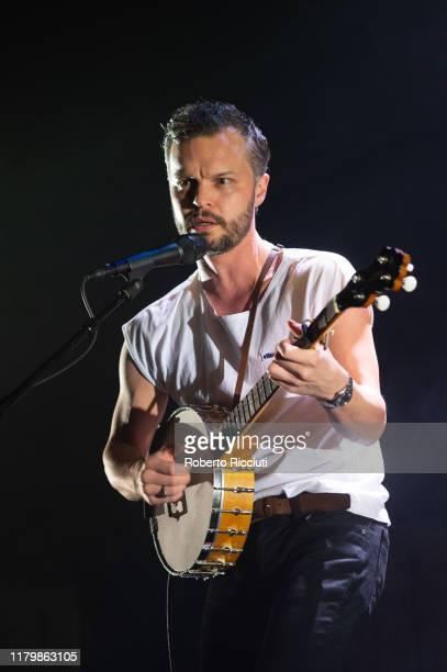 Kristian Matsson, aka The Tallest Man on Earth, performs on stage at Usher Hall on November 3, 2019 in Edinburgh, Scotland.