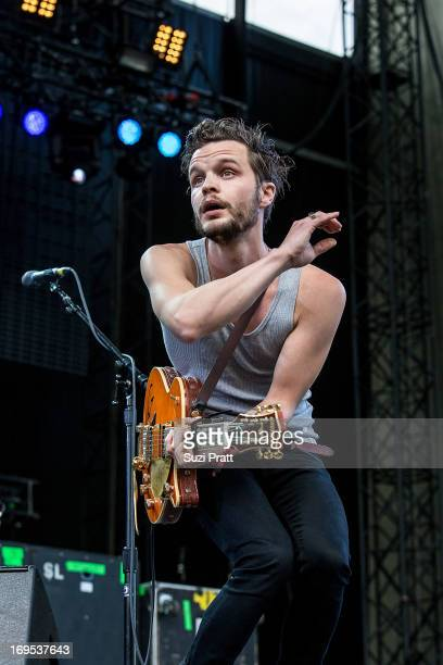 Kristian Matsson of Tallest Man on Earth performs at the Sasquatch Music Festival at The Gorge on May 26 2013 in George Washington