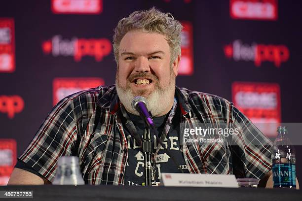 Kristian Nairn attends the 2014 Chicago Comic and Entertainment Expo at McCormick Place on April 25 2014 in Chicago Illinois