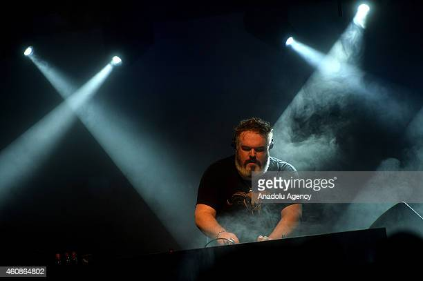 Kristian Nairn known for his role 'Hodor' in the fantasydrama series Game of Thrones performs during 'Rave of Thrones' end of the year party hosted...