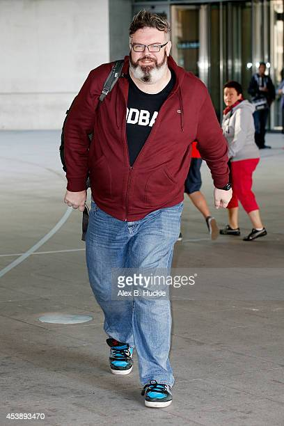 Kristian Nairn seen arriving at the BBC Radio 1 Studios on August 21 2014 in London England Photo by Alex Huckle/GC Images